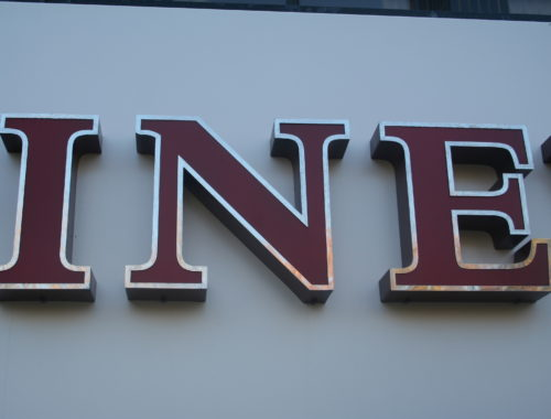 Built up stainless letters