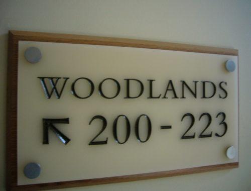 engraved with an oak backboard