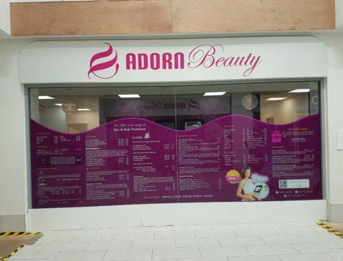 Beauty saloon printed graphics